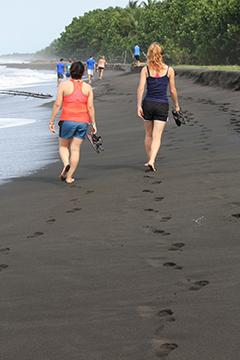 Students on Beach in Costa Rica